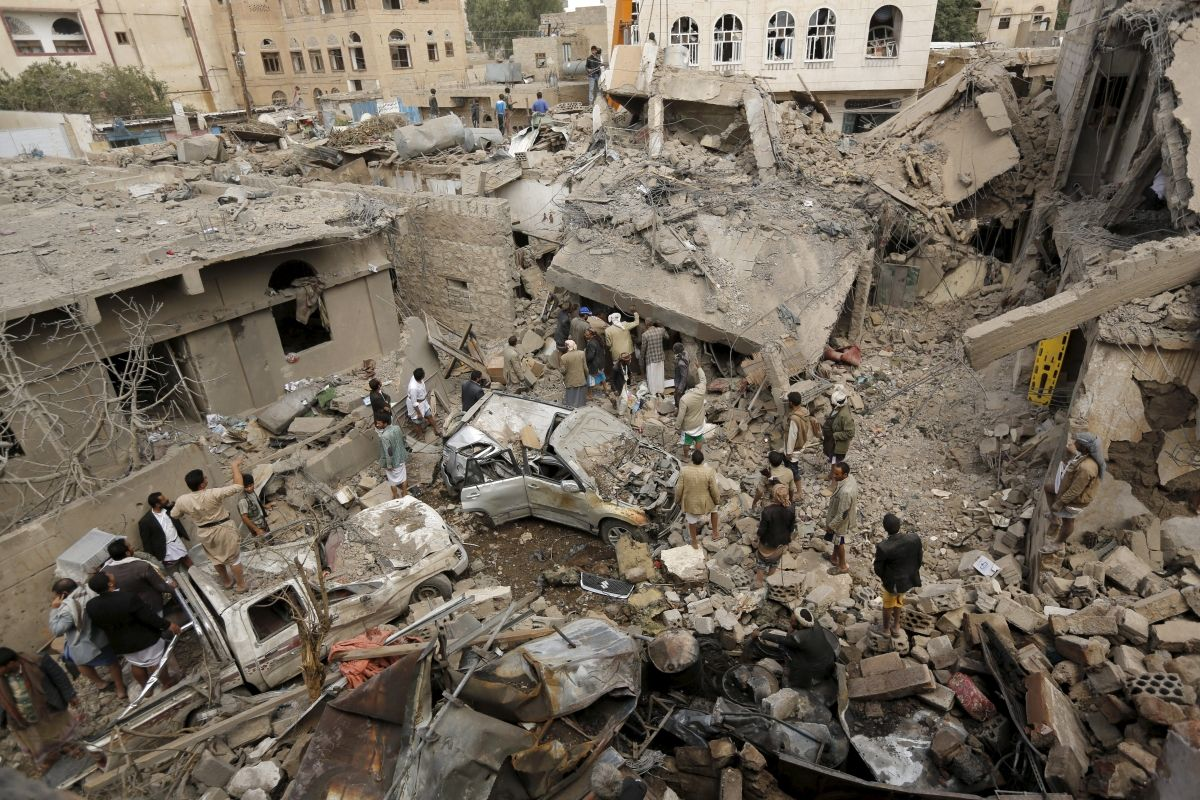 Yemen Strike Saudi Arabia Hotel