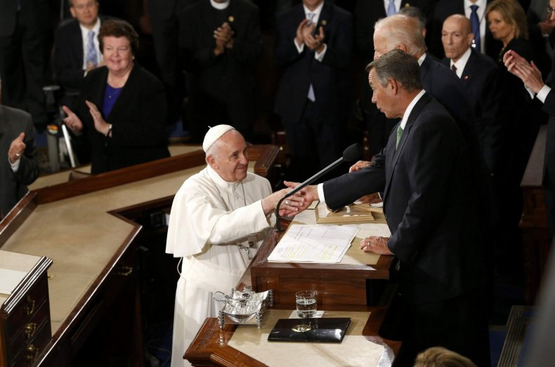John Boehner and Pope Francis