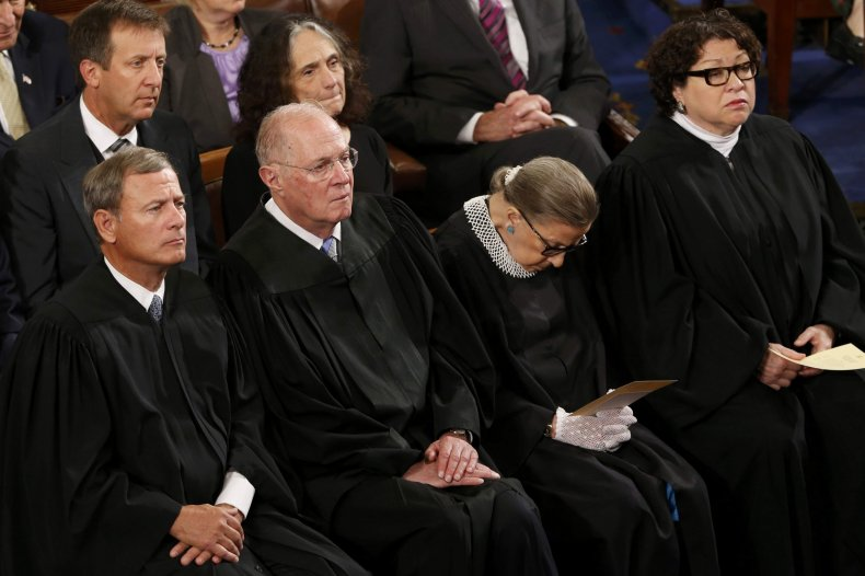 supreme court justices listen to pope francis