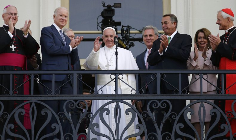 Pope Francis from the Speaker's Balcony