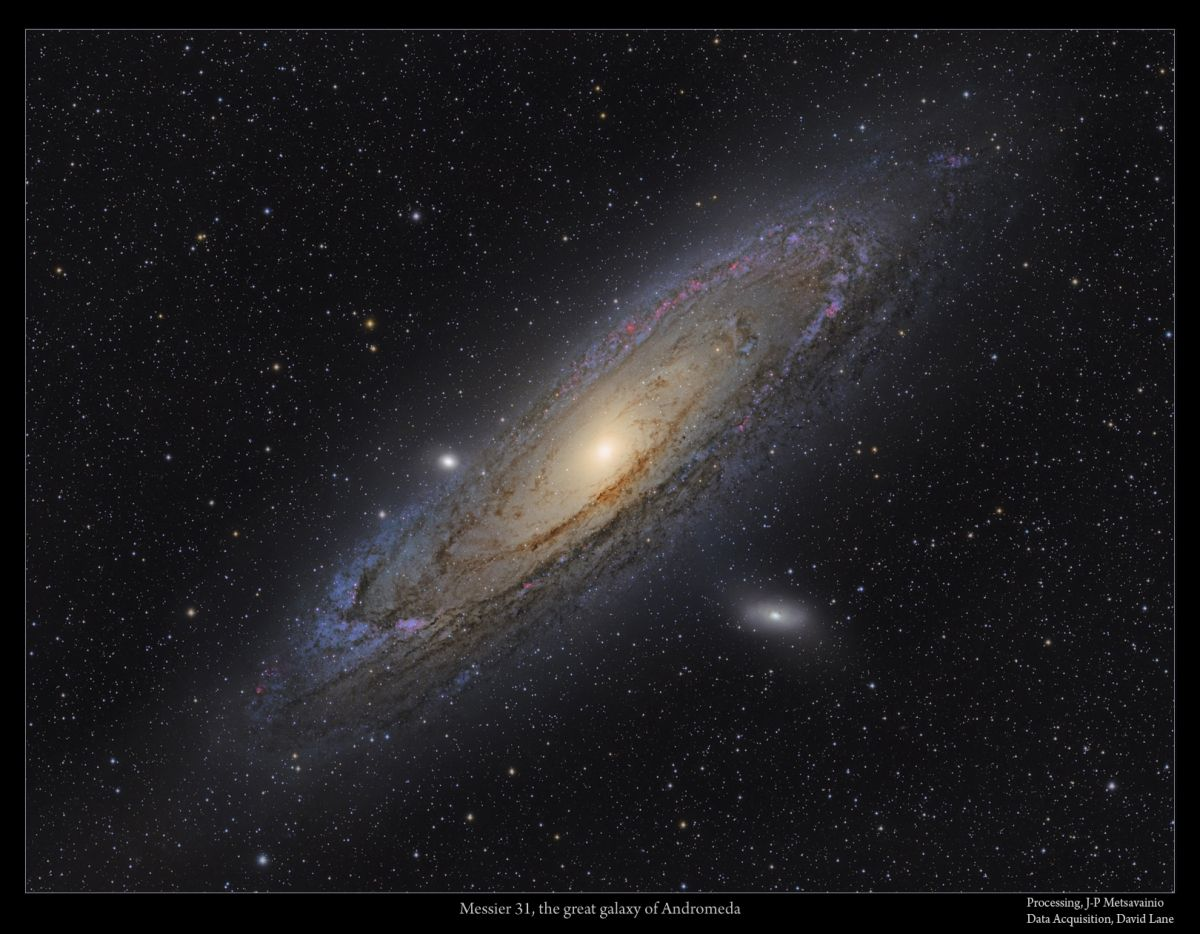 Andromeda with stars