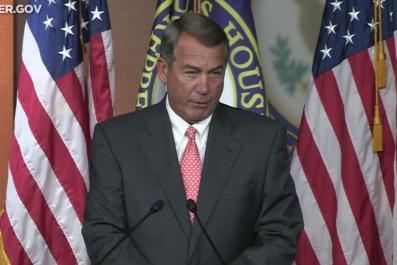 John Boehner's press conference