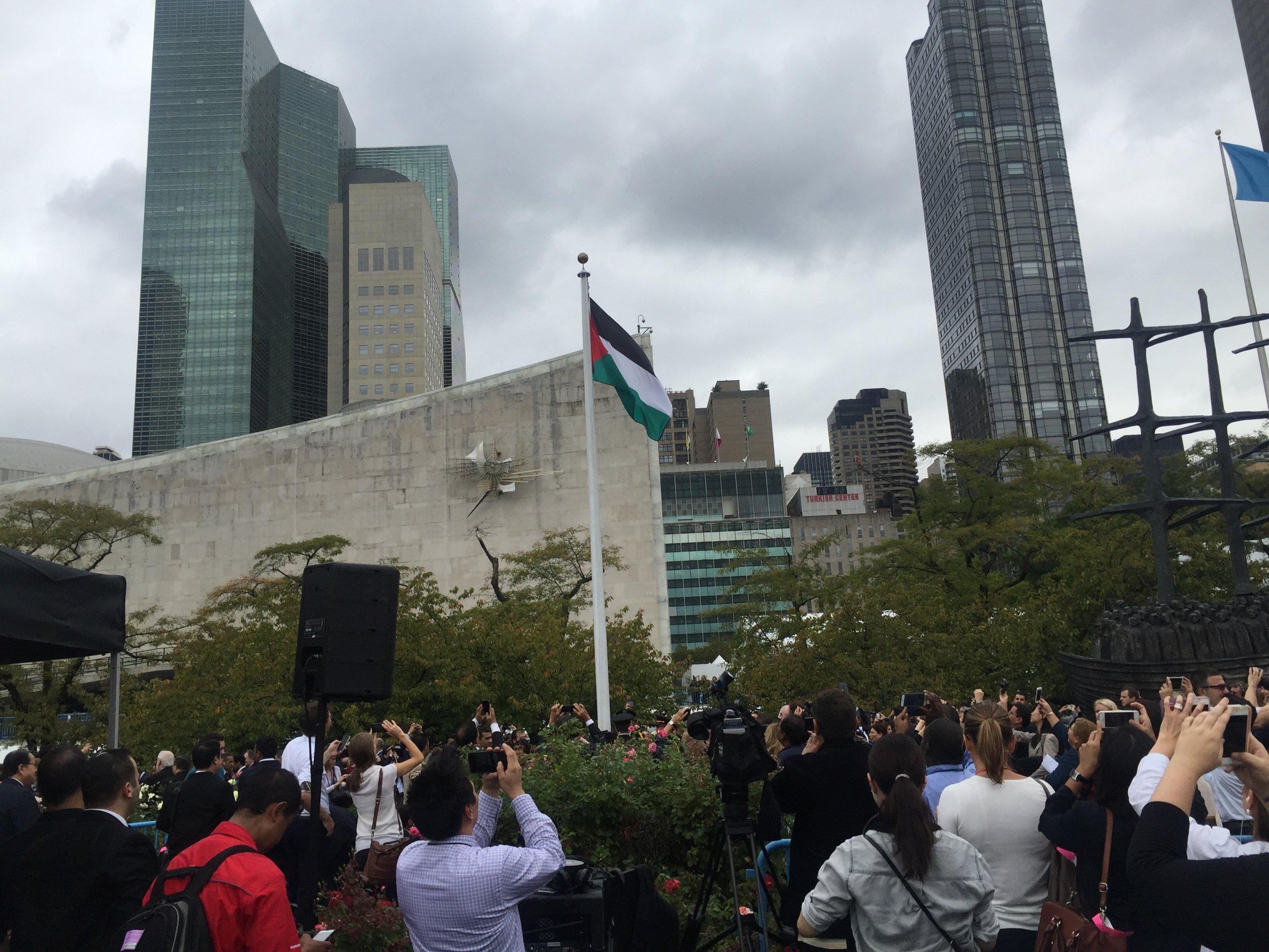 0930_Palestine Flag Flies United Nations