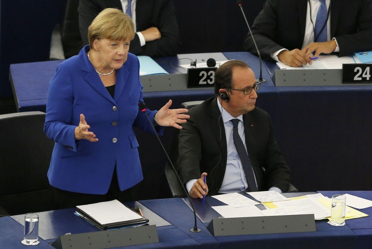 Hollande and Merkel under attack