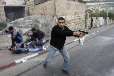Israel Palestinian Middle East IDF Stone-Throwers
