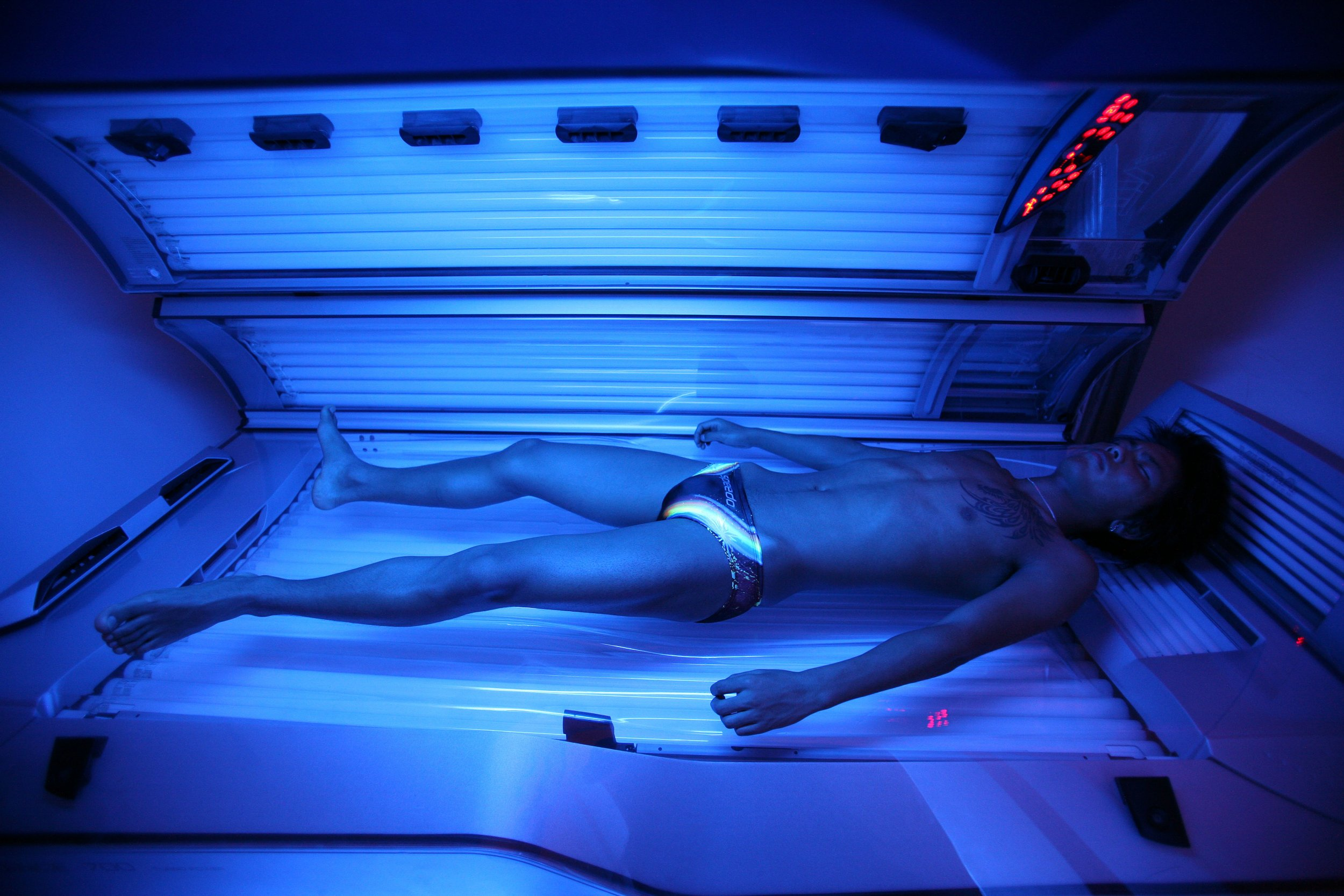 Single session tanning