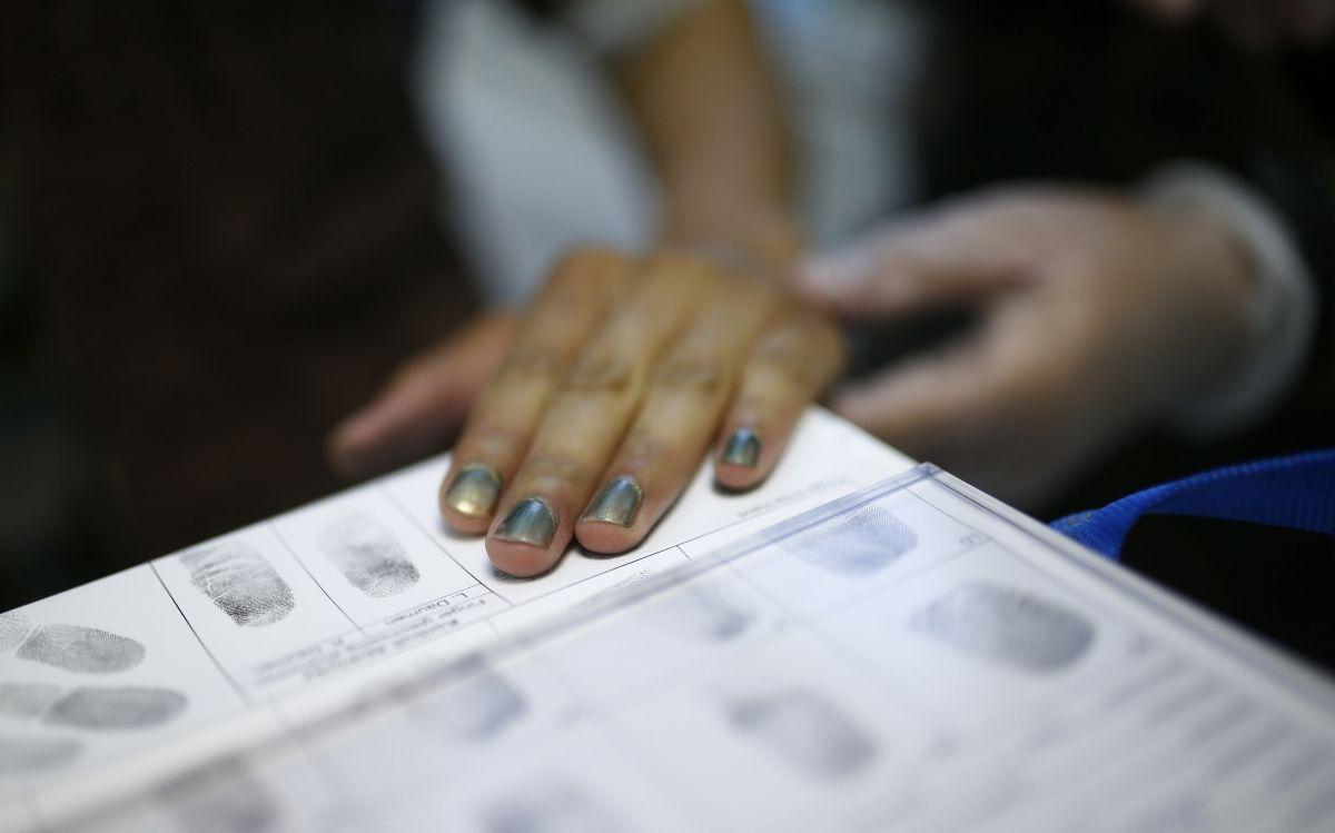 Refugee fingerprint
