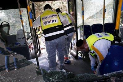 Israel Jerusalem Bus Stabbing Shooting Middle East