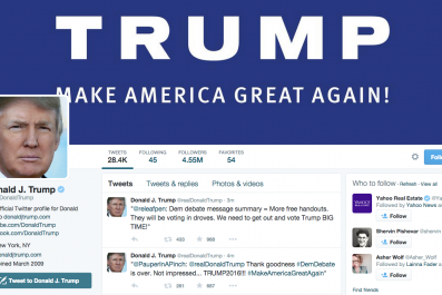 Donald Trump Live-tweeted, and it was disappointing