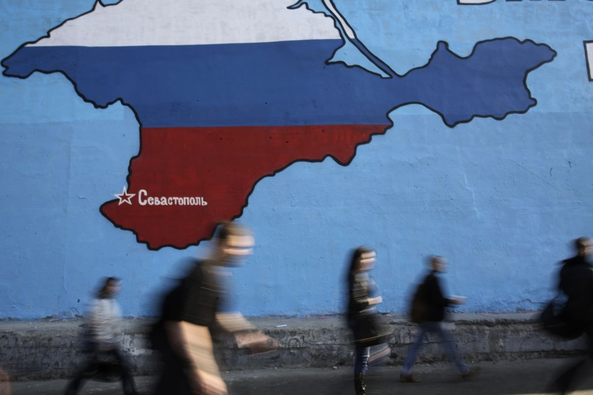 Crimea map in Moscow