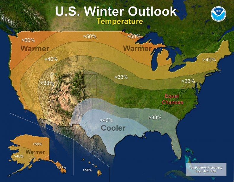 NOAA temp outlook 2016