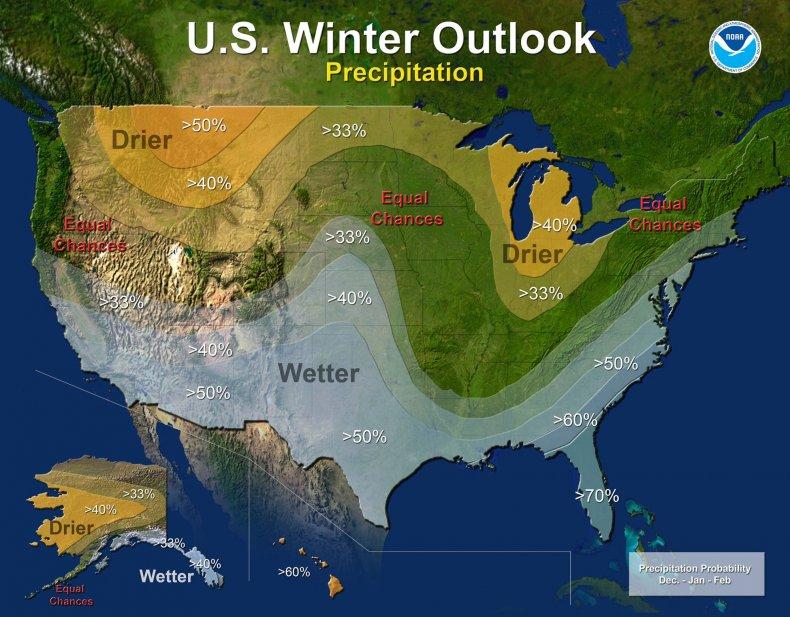 NOAA precipitation outlook 2016
