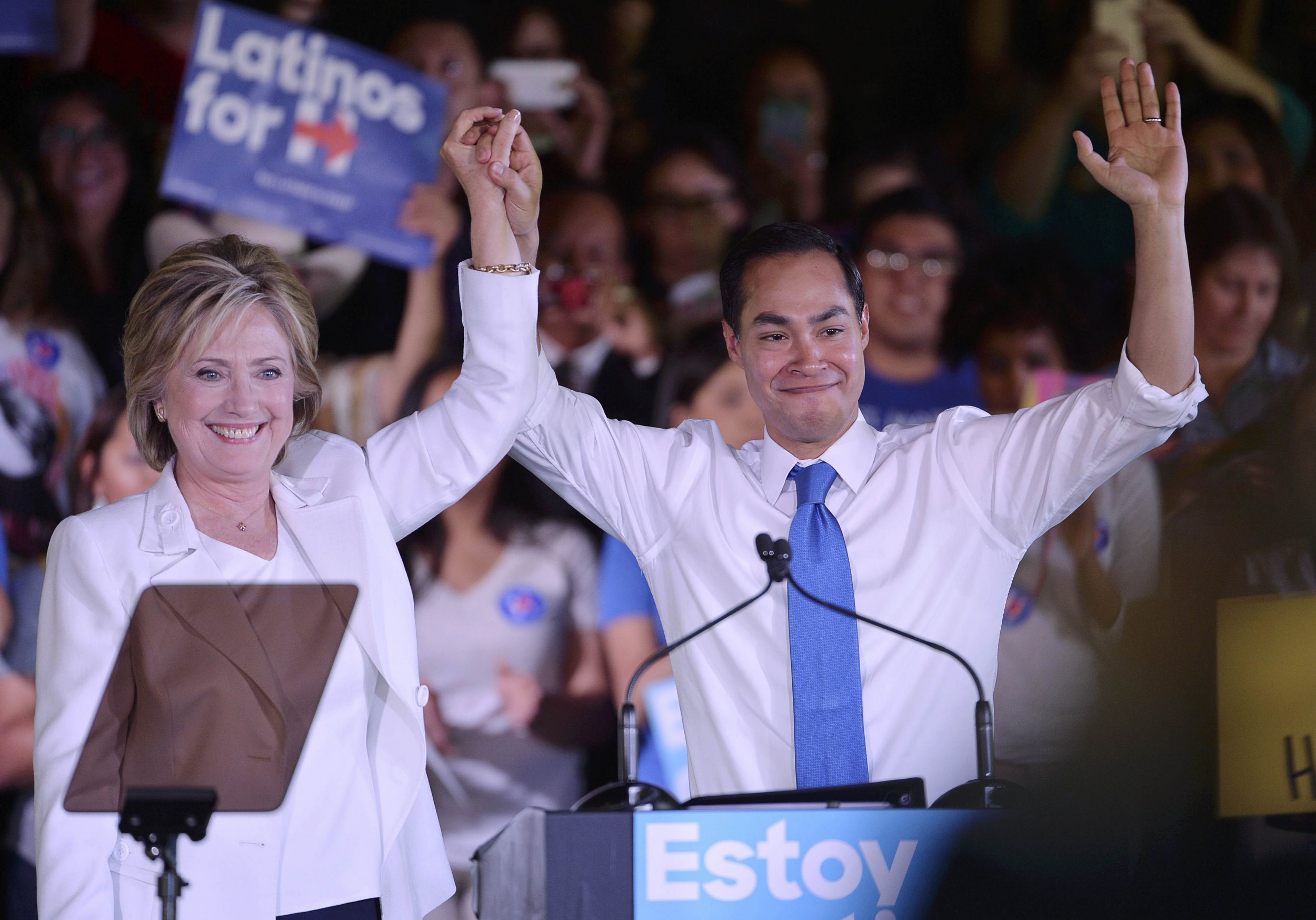 clinton to 'look hard' at hud secretary julian castro as possible