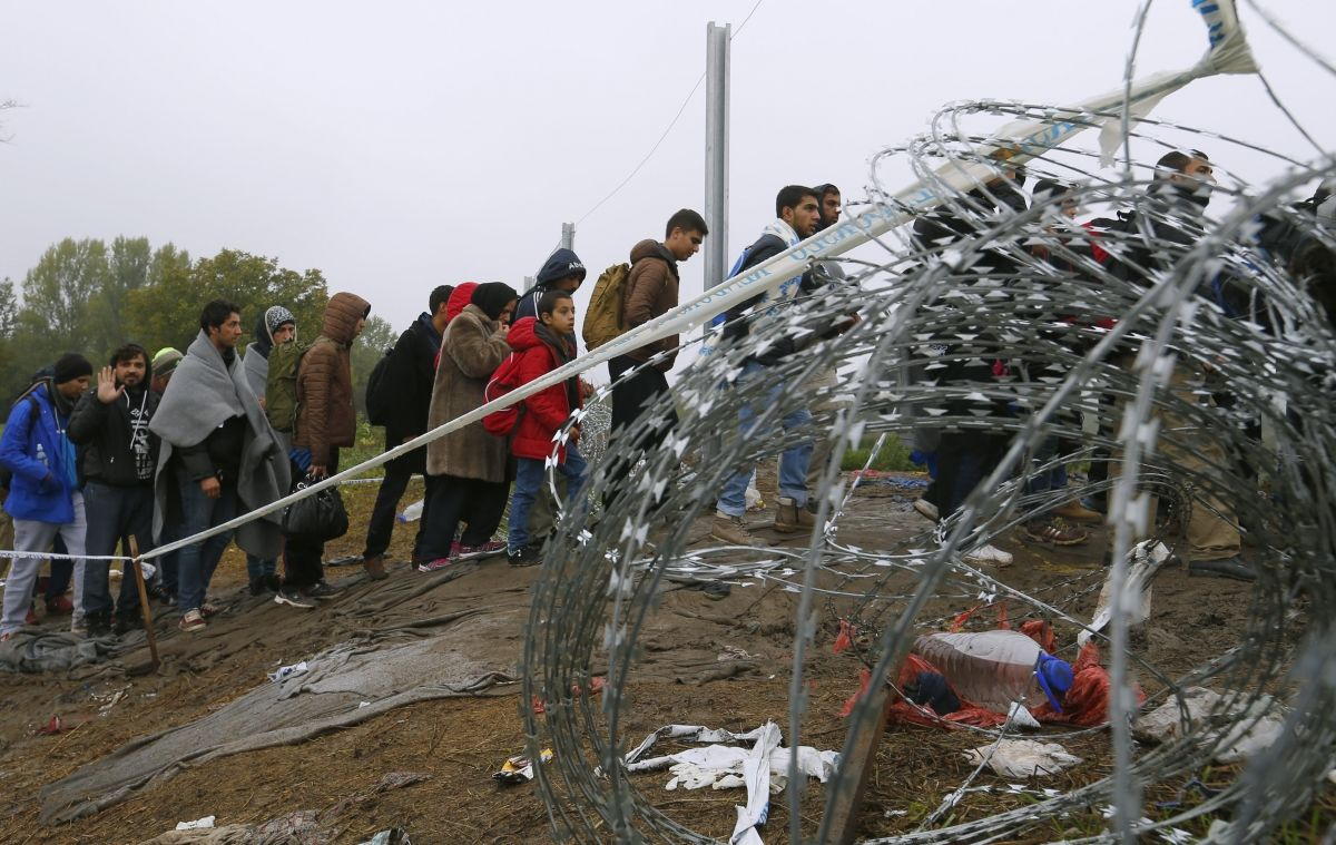 Refugees on Hungarian border