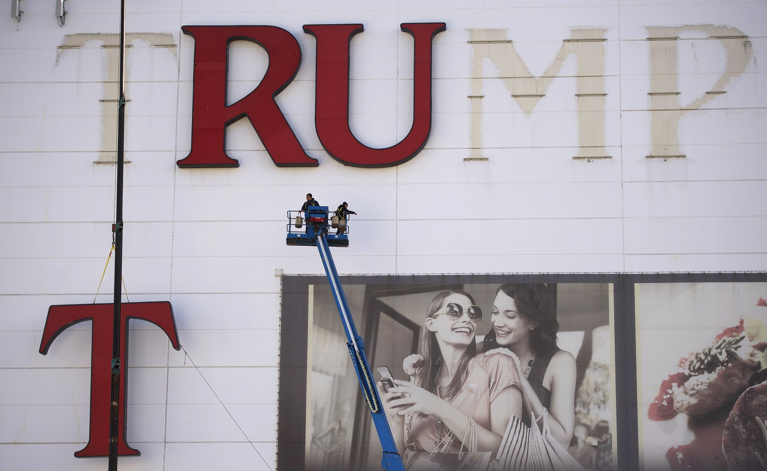 Image result for photographs of Trump casinos closed