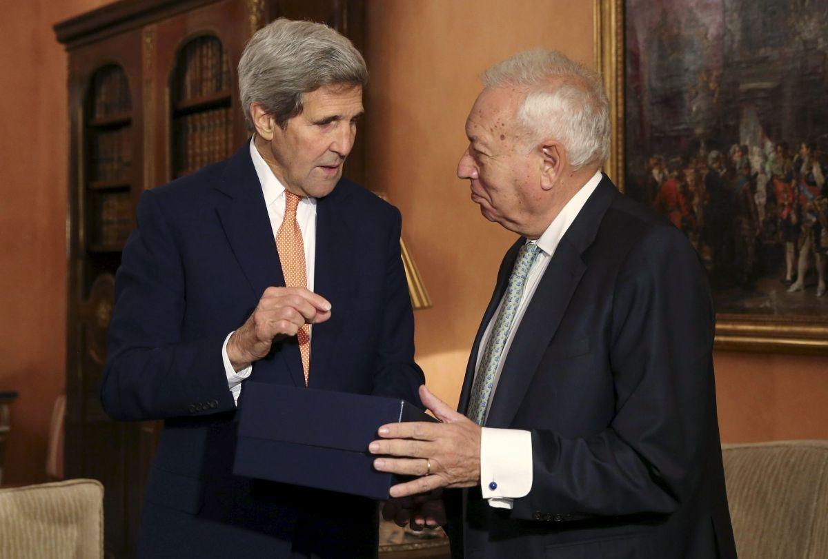 John Kerry and Jose Manuel Garcia-Margallo