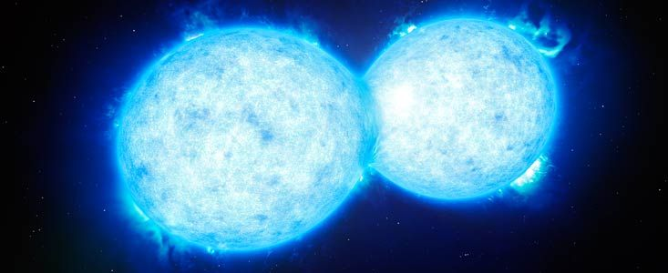 Rare Merging Stars Spotted, Soon to Explode
