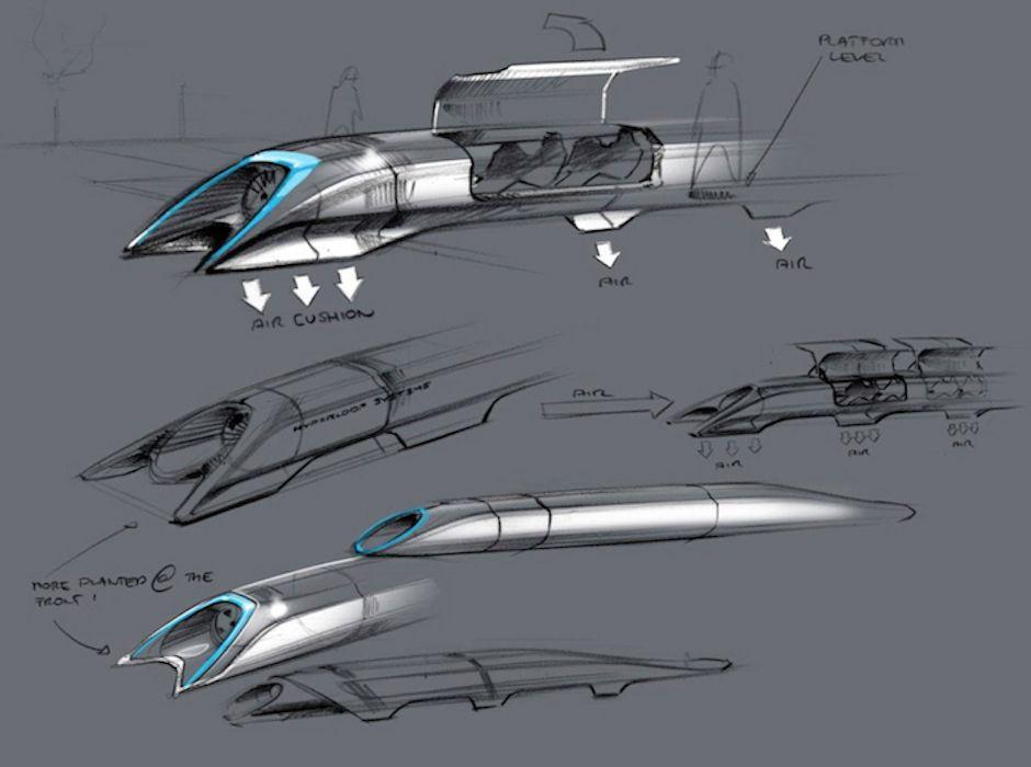 Elon Musk bullet train