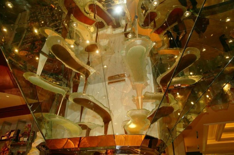 Largest chocolate fountain