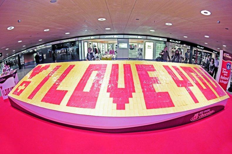 Largest chocolate bar mosaic