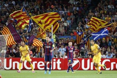 Barcelona Catalan flags