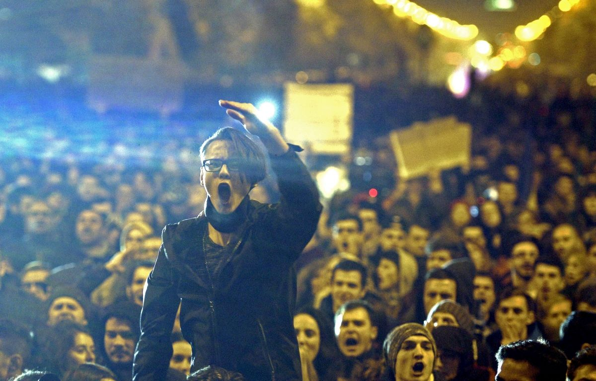 Bucharest protester