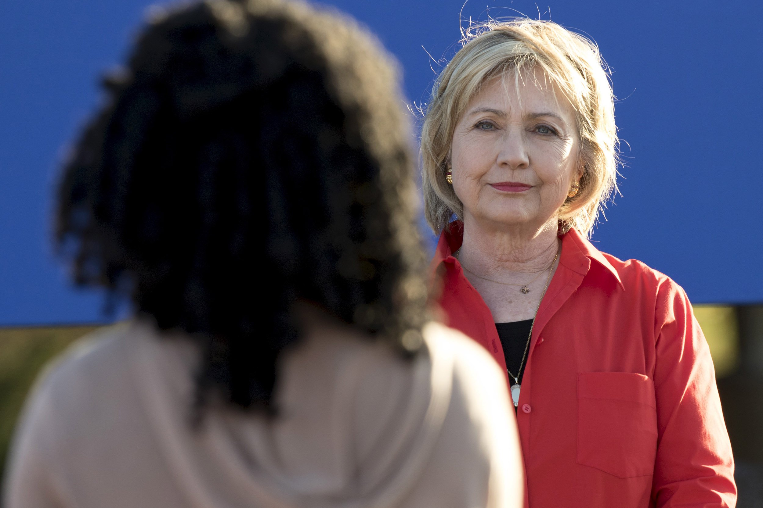 in strategy switch hillary clinton doubles down on gender card