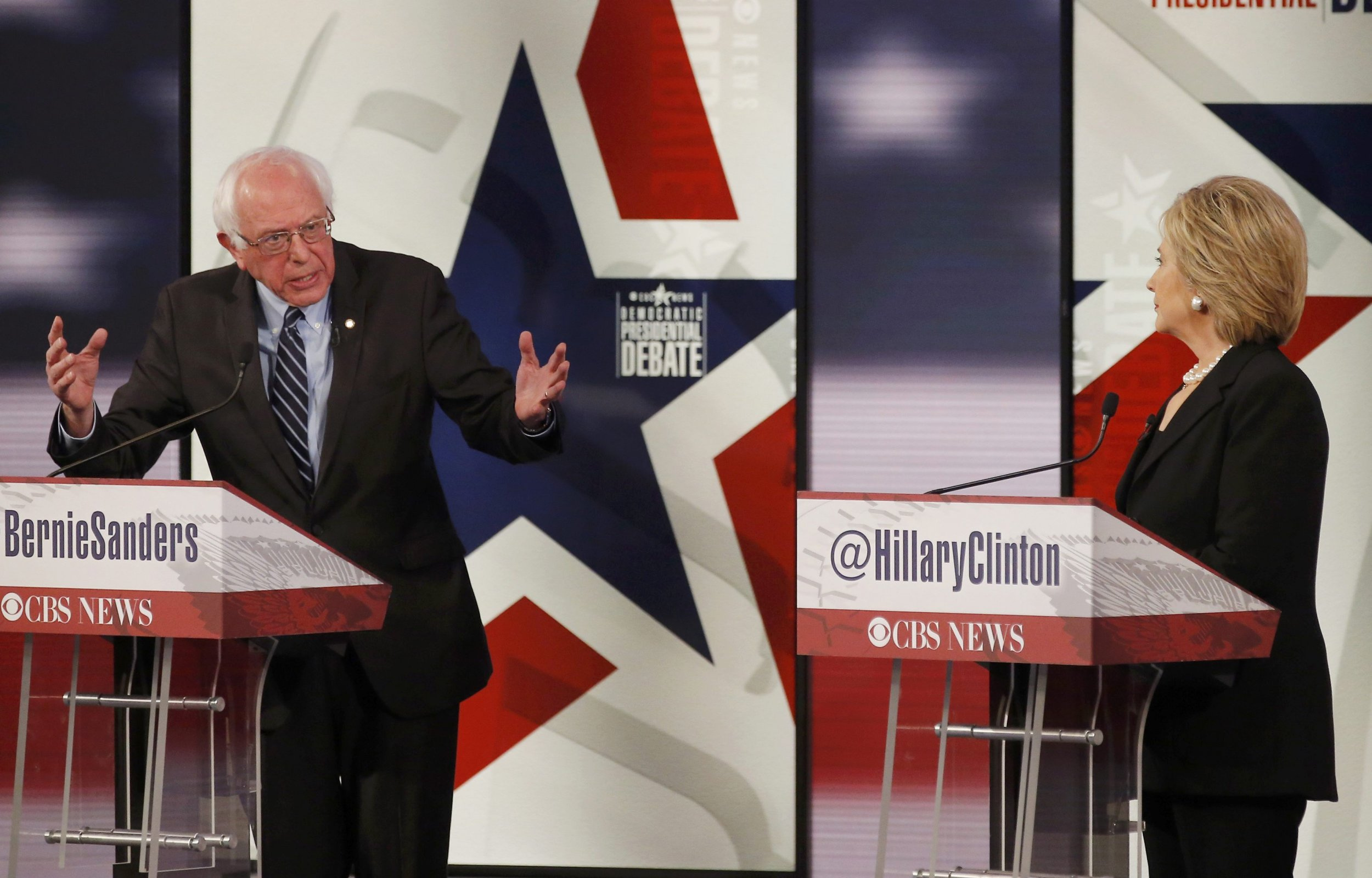 Bernie Sanders hit Hillary Clinton about her Wall Street donations