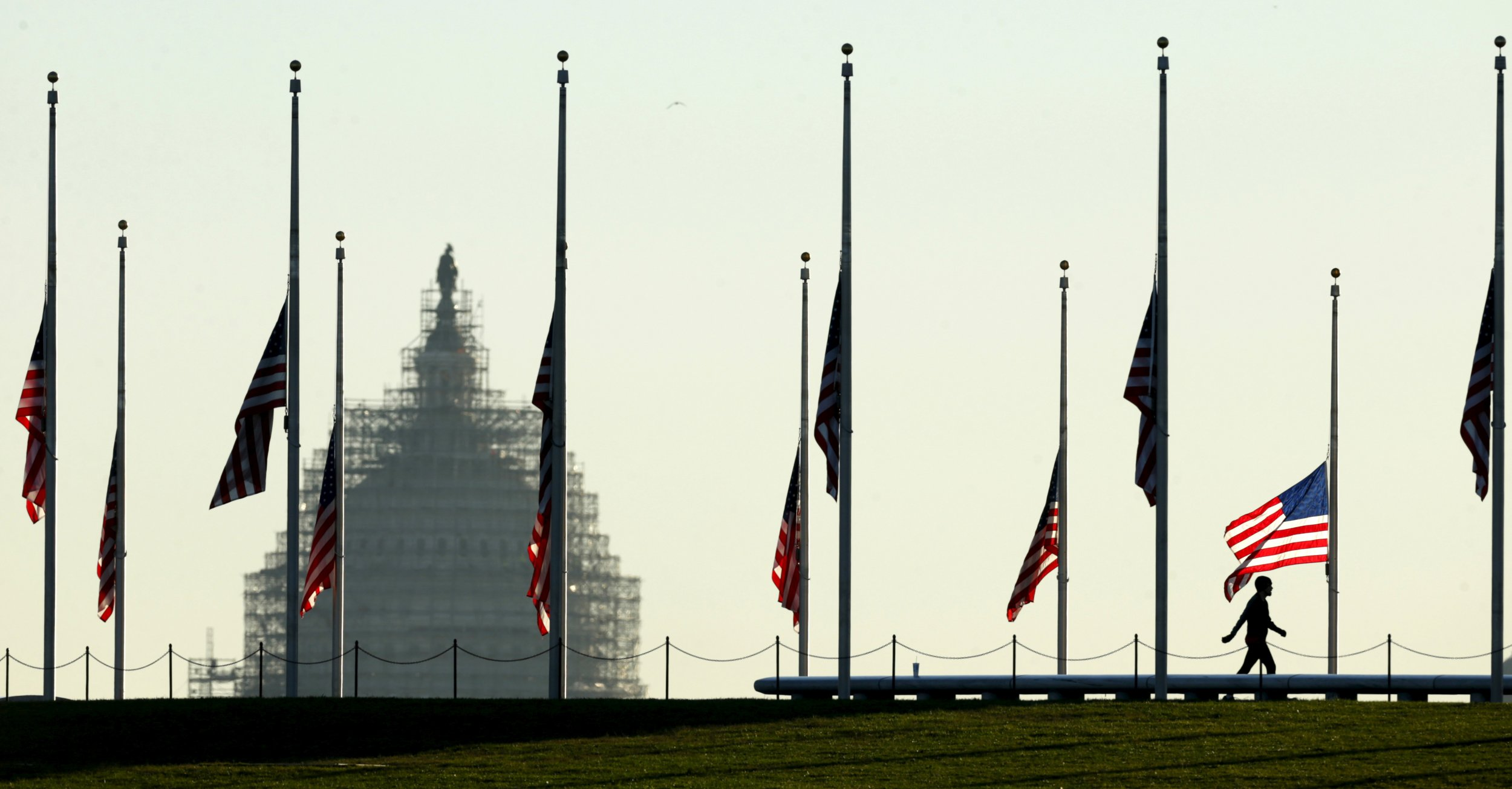 half staff flags