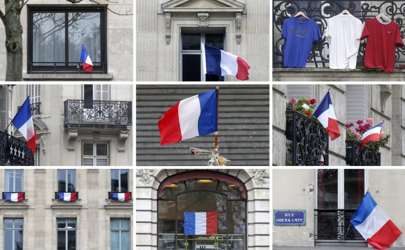 Selection of french flags
