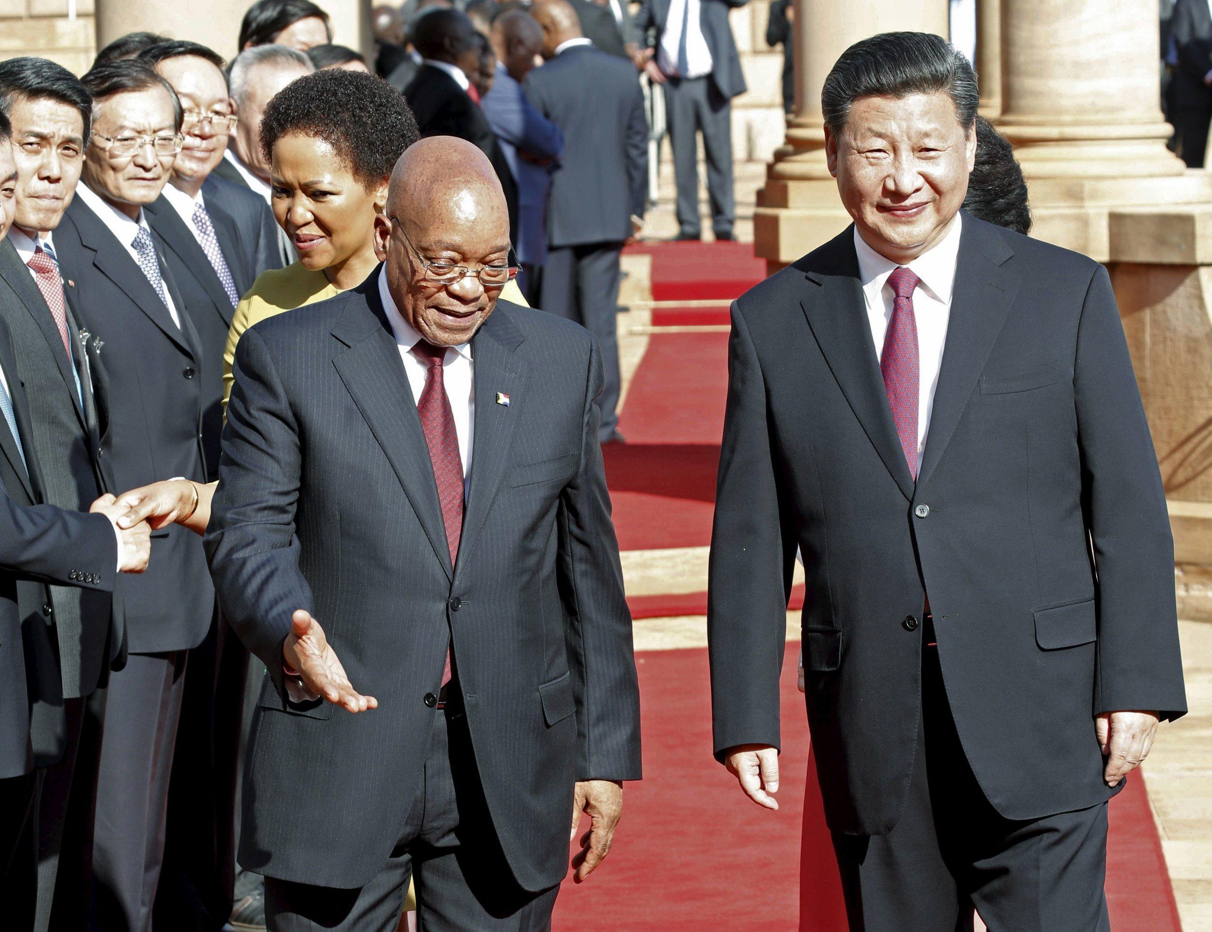 Zuma Meets Cele Xi Jinping Jacob Zuma