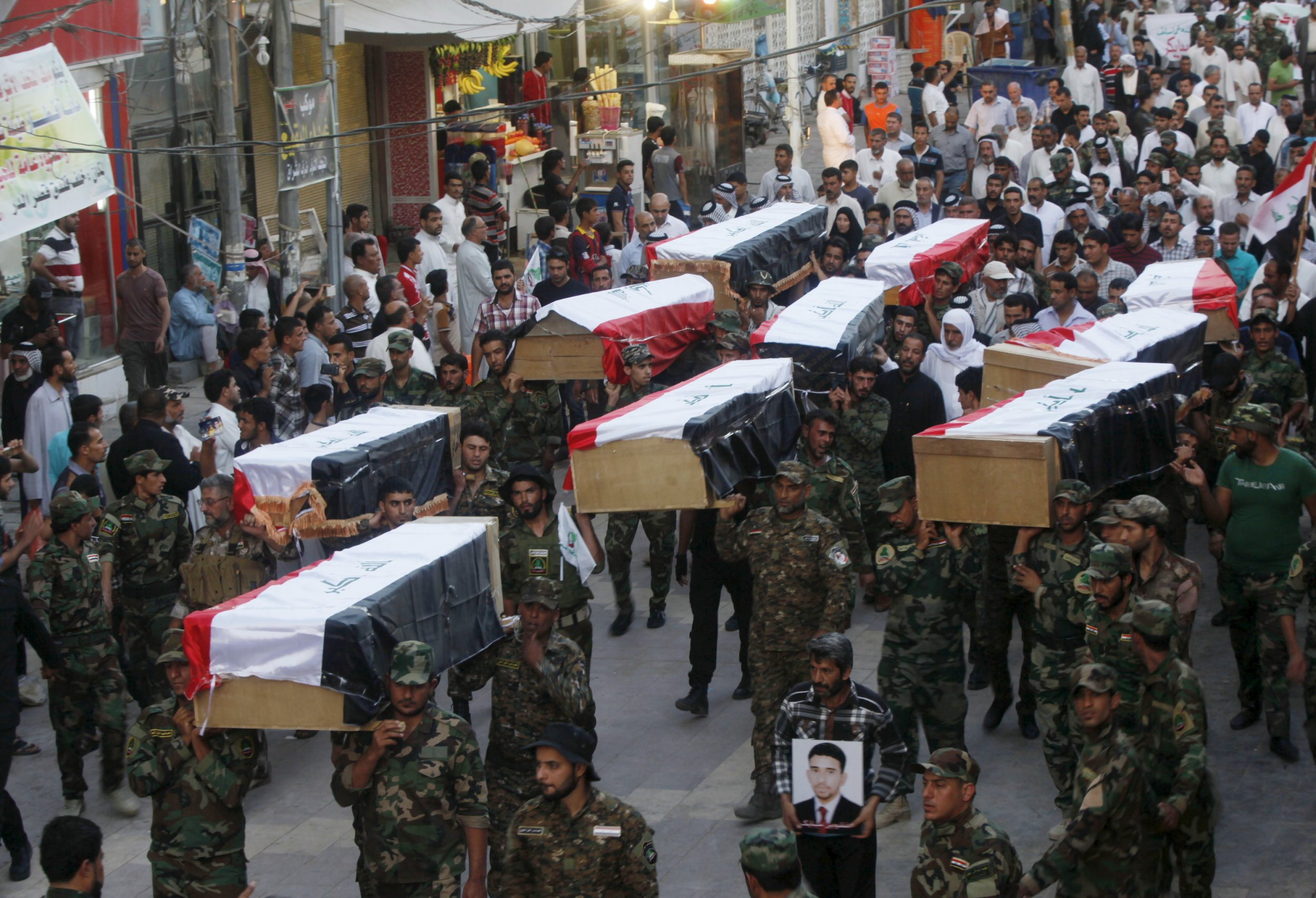 Coffins of Camp Speicher victims