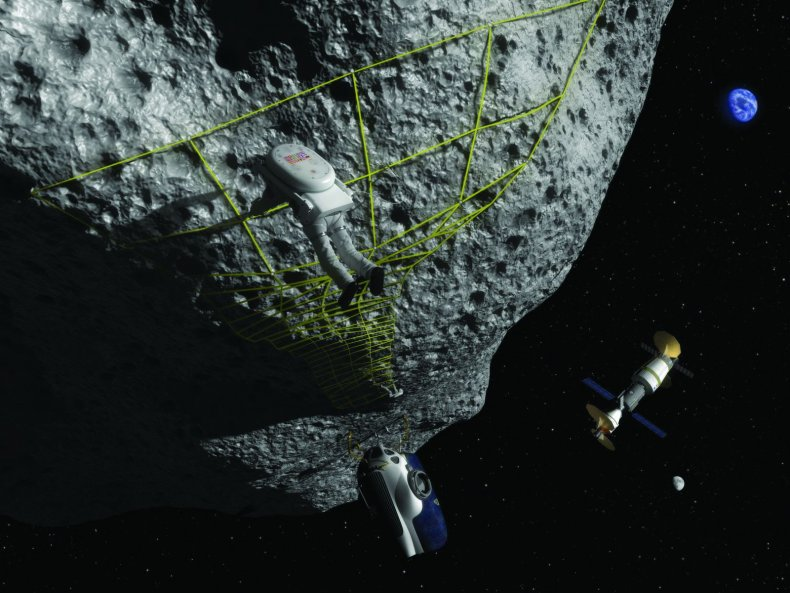 Artist_Concept_-_Astronaut_Performs_Tethering_Maneuvers_at_Asteroid