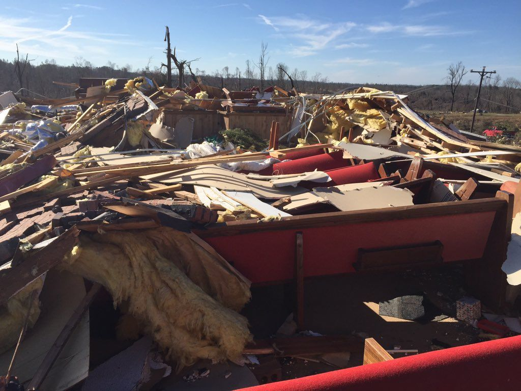 Mississippi Tornado Damage Picture