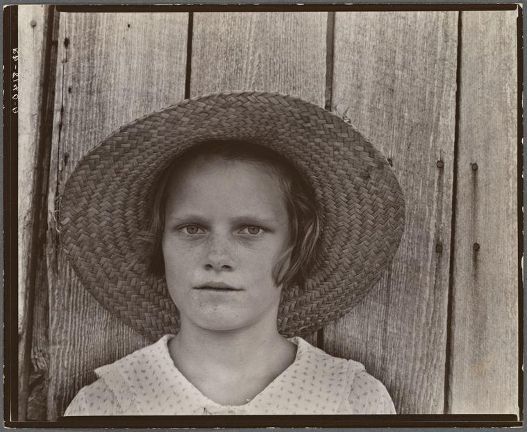 b7c4a55e1 A Farm Security Administration photograph by Walker Evans shows Lucille  Burroughs