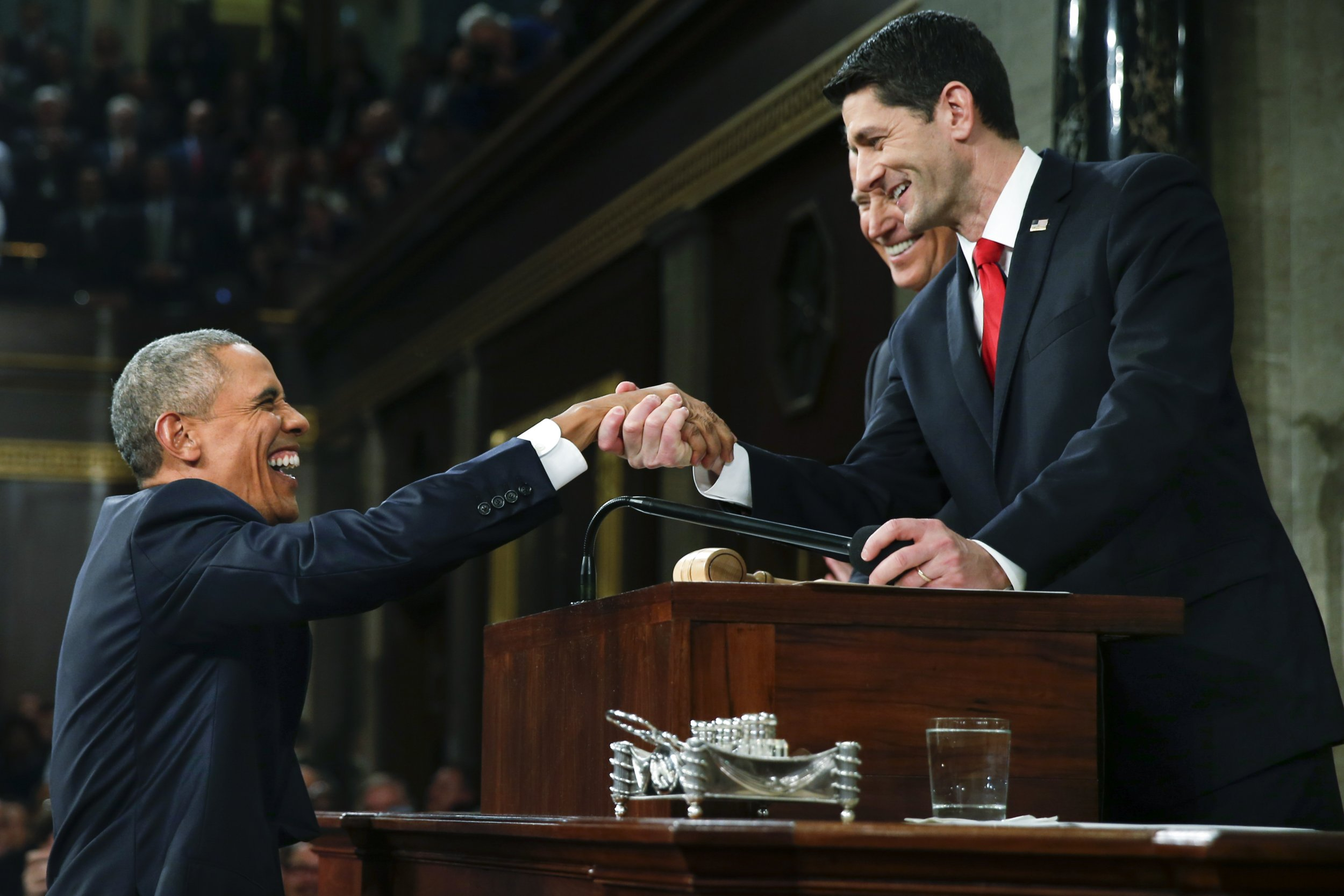 republican presidential candidates react to president barack obama s