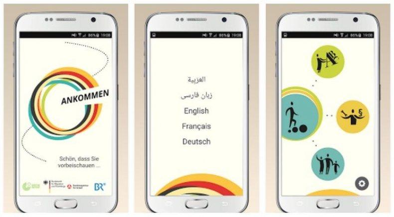 Refugee app Ankommen Germany smartphone