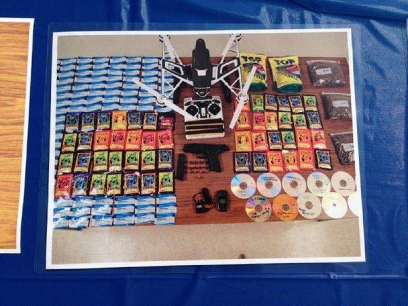 drone prison smuggle contraband drugs