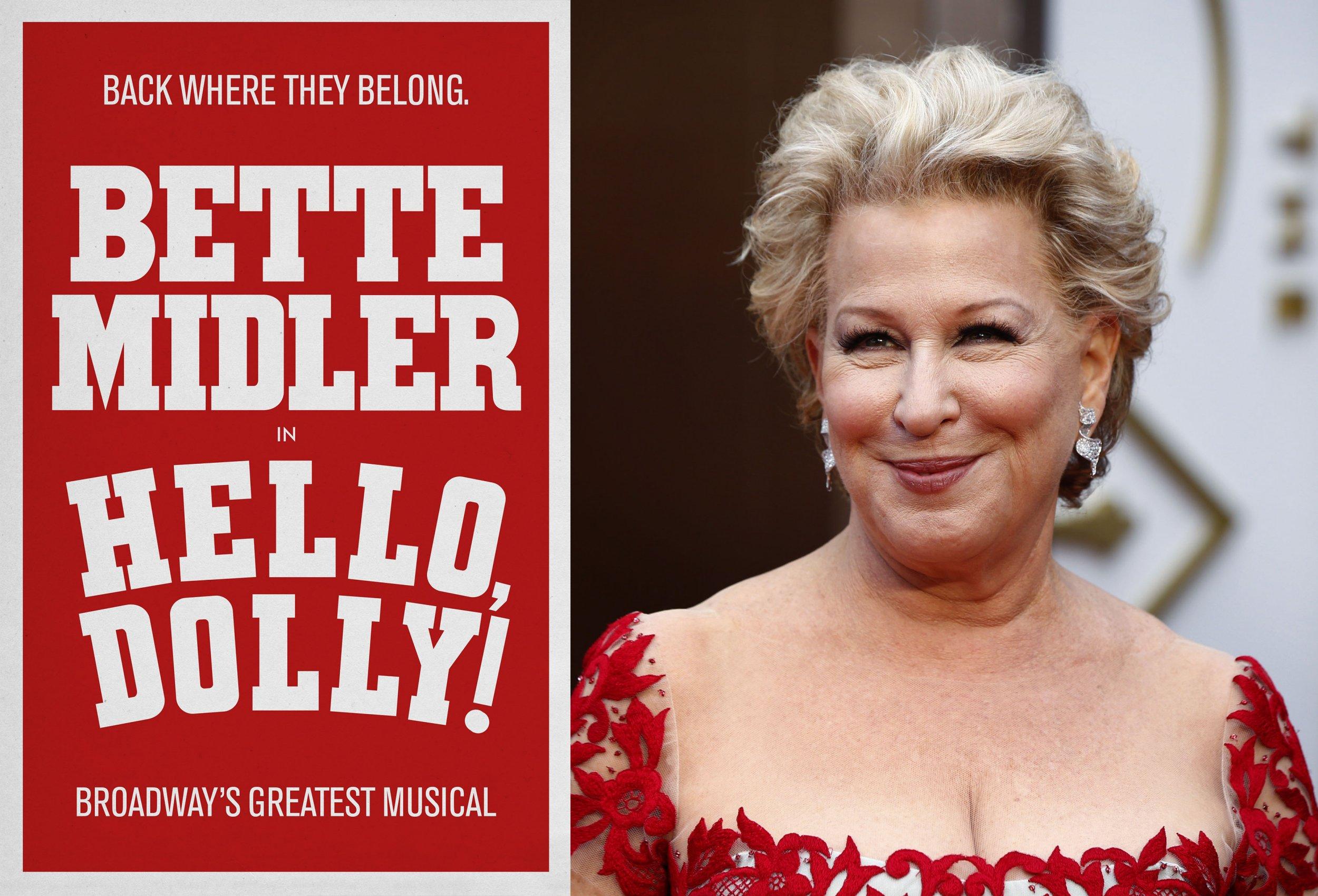 Lyric barbra streisand hello dolly lyrics : Bette Midler to Star in the Broadway Revival of 'Hello, Dolly!'