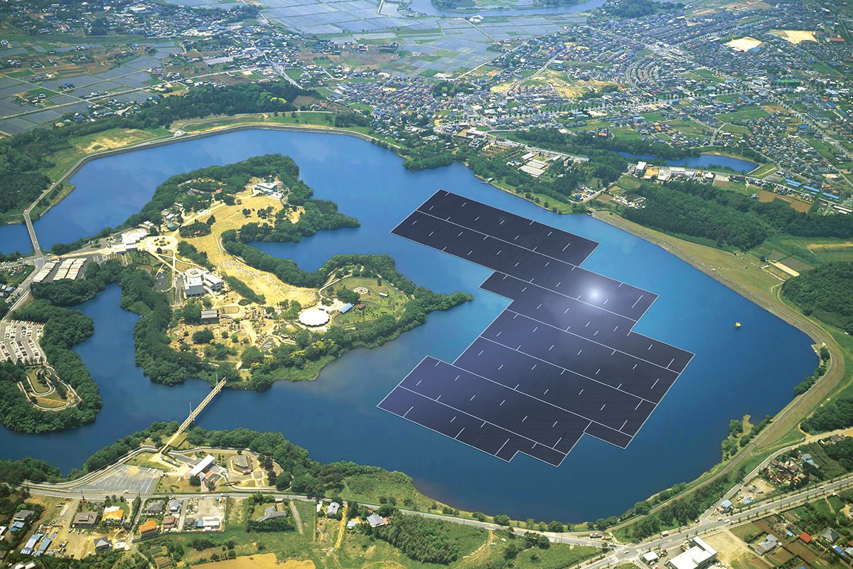 solar power plant floating renewable energy