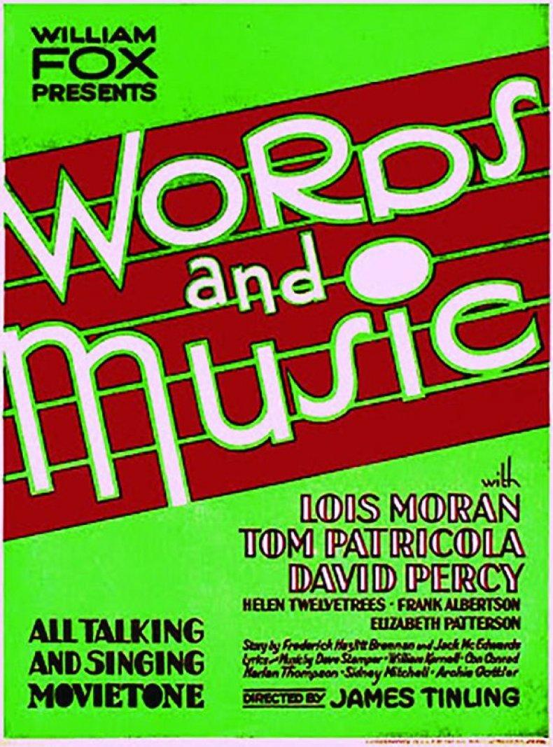 Words & Music - Window Card