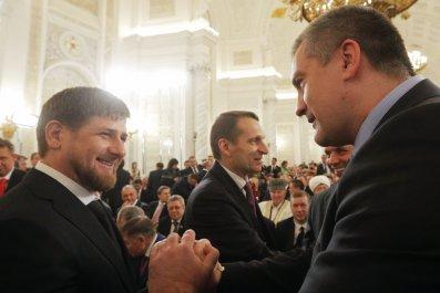 Ramzan Kadyrov Greets Crimean PM