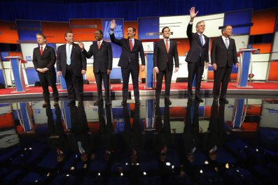 GOP presidential candidates at Fox News debate