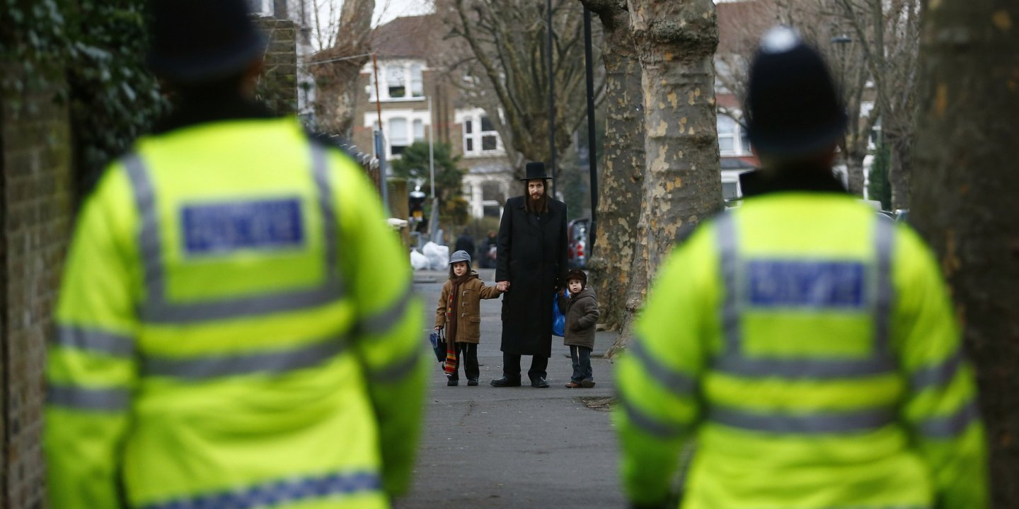 A member of the Jewish community in north London