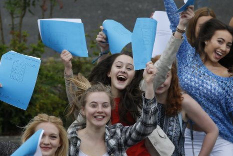 Students celebrate receiving their A-level results