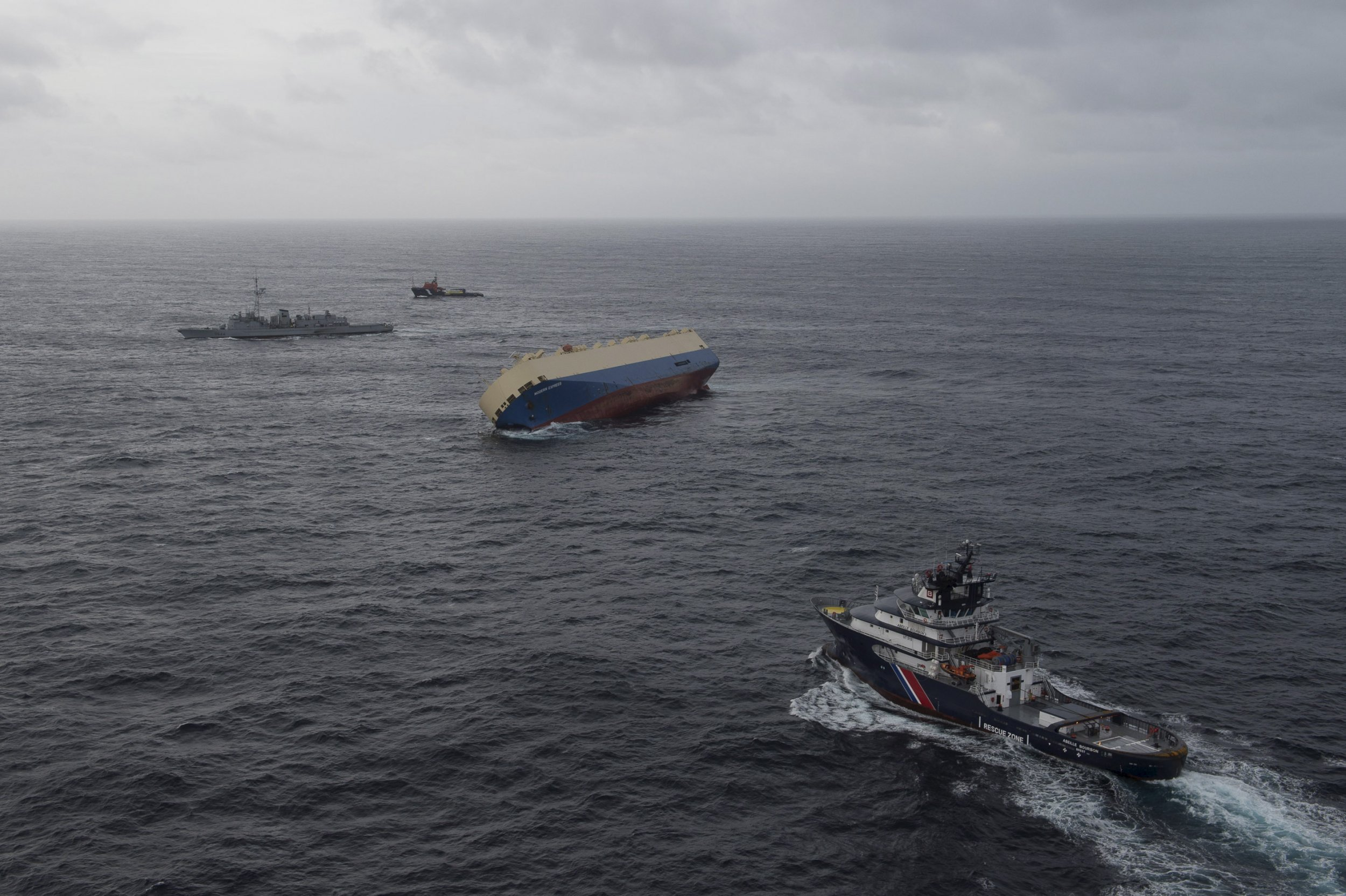 French freighter adrift in the Atlantic