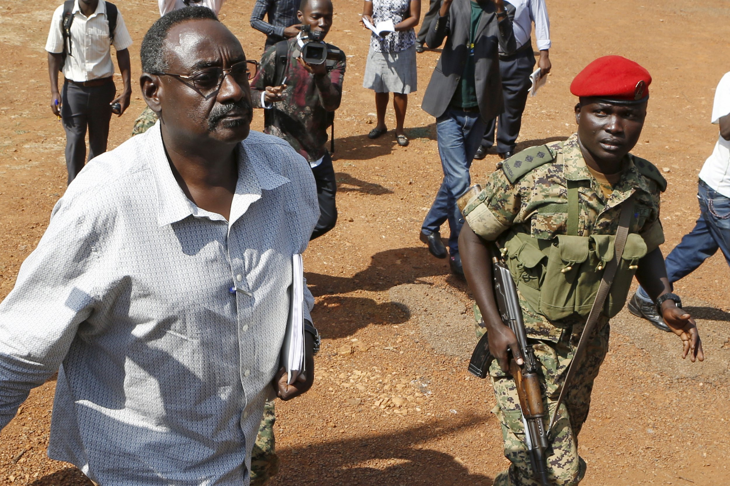 Ugandan army General David Sejusa, a critic of Yoweri Museveni, has been charged with military offences.