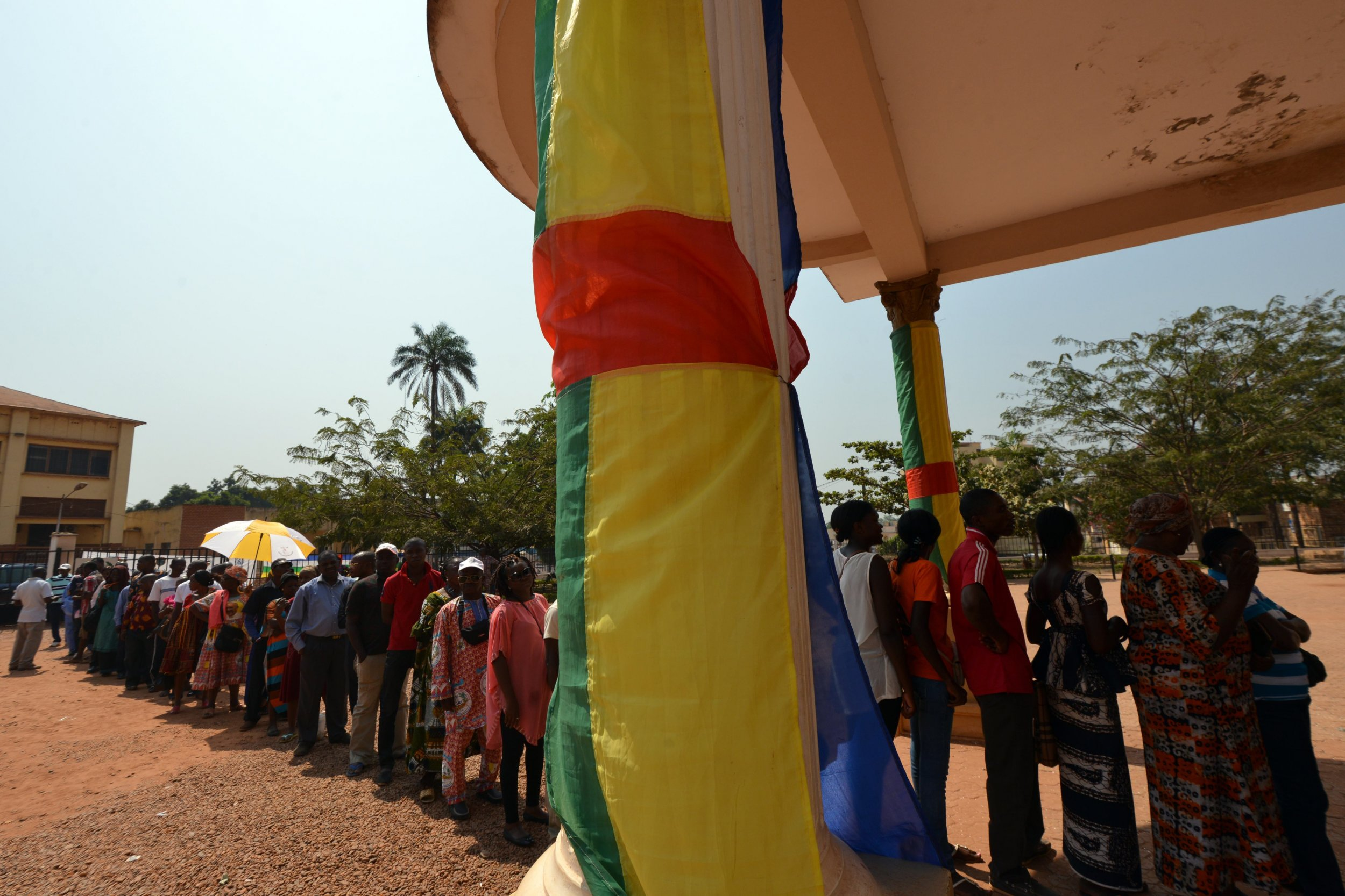 Central African voters go to the polls in Bangui.
