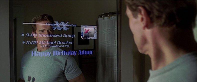 smart mirror google arnold schwarzenegger