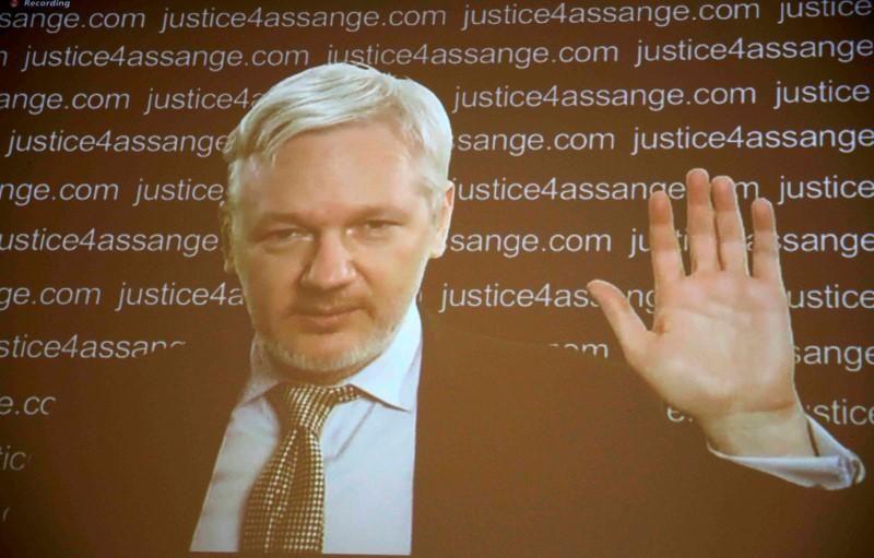 Julian Assange video link